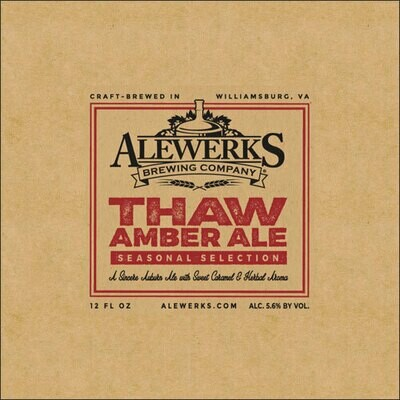 Thaw Amber Ale 32oz Crowler