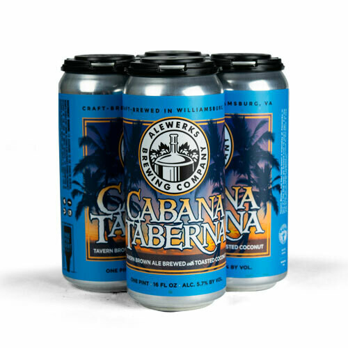 Cabana Taberna Toasted Coconut Brown Ale 4-Pack 16oz Cans