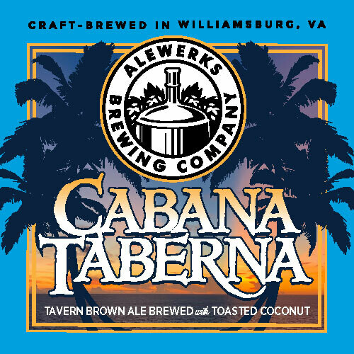 Cabana Taberna Toasted Coconut Tavern Ale 32oz Crowler