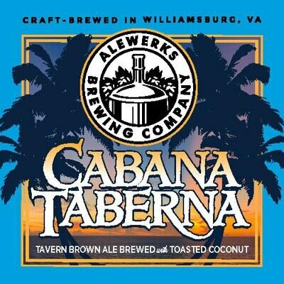 Cabana Taberna Toasted Coconut Brown Ale 32oz Crowler
