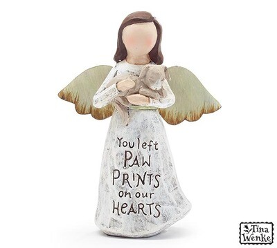 Figurine Angel Holding Dog