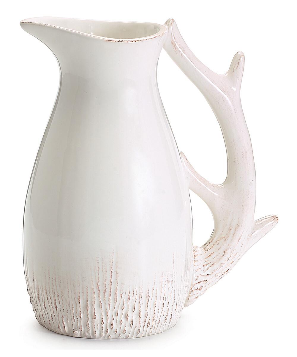 White Ceramic Deer Pitcher