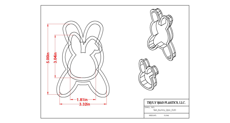 Teri Bunny 2 pc