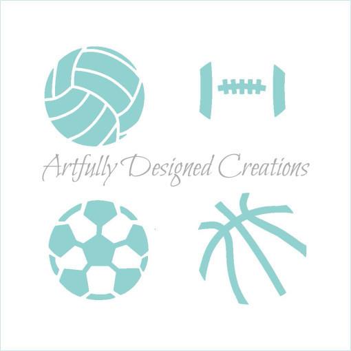 AD Mini Sports Balls Stencil