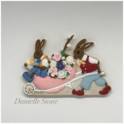 Easter Parade Bunny Wheelbarrow 01