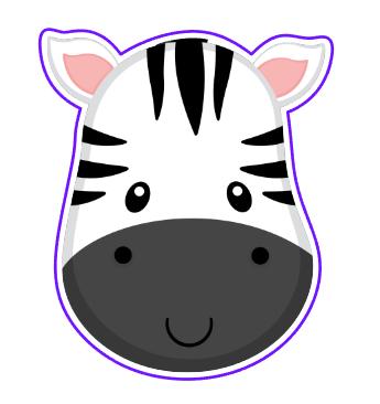 Zebra Face 06