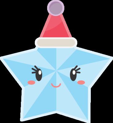 Star with Santa Hat 01