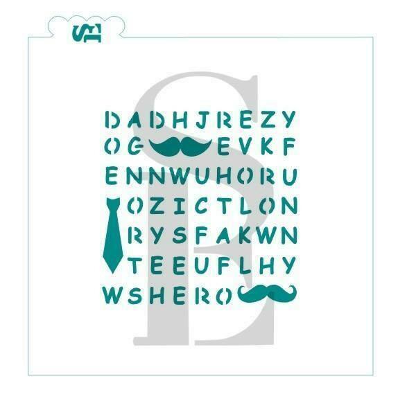 SE Father's Day Word Search Stencil