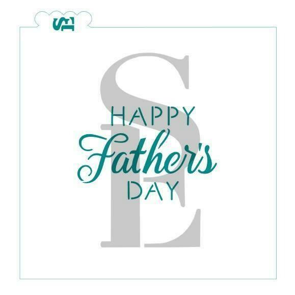 SE Happy Father's Day Stencil