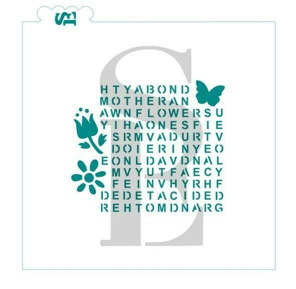SE Mother's Day Word Search Stencil