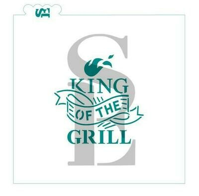 SE King of the Grill Stencil