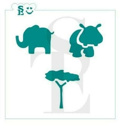 SE Safari Animals #1 Stencil