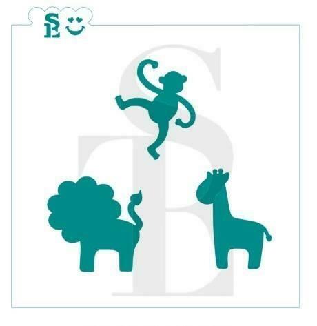 SE Safari Animals #2 Stencil