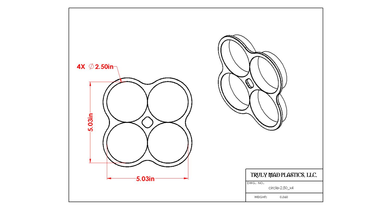"Circle 2.50"" x 4"