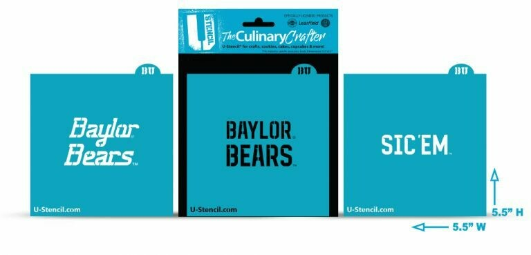 Baylor Bears Combo Pack B (3 Stencils) (421)