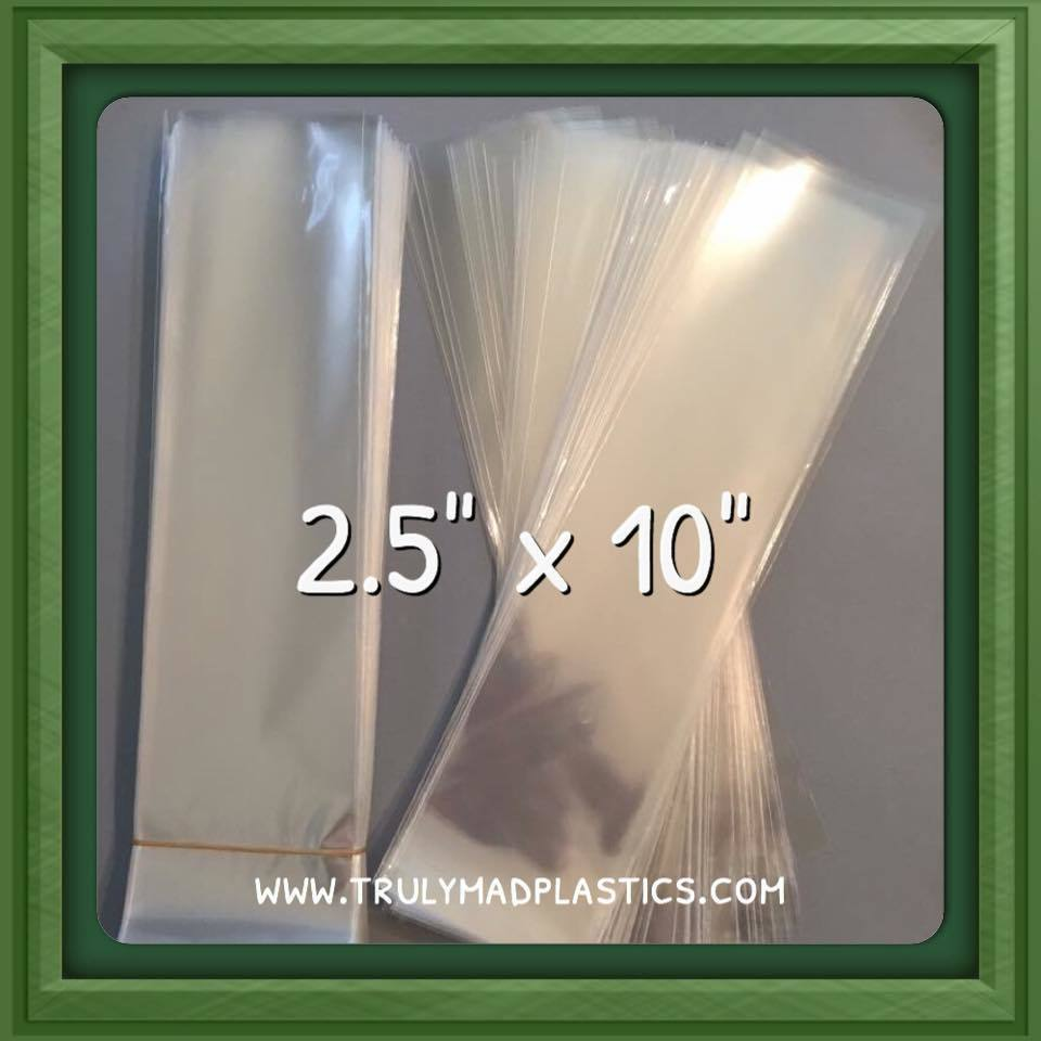"Super Clear Cello Bags 2.5"" x 10.0"" (100/pcs)"