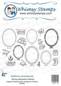Balloon Sentiments Rubber Stamp