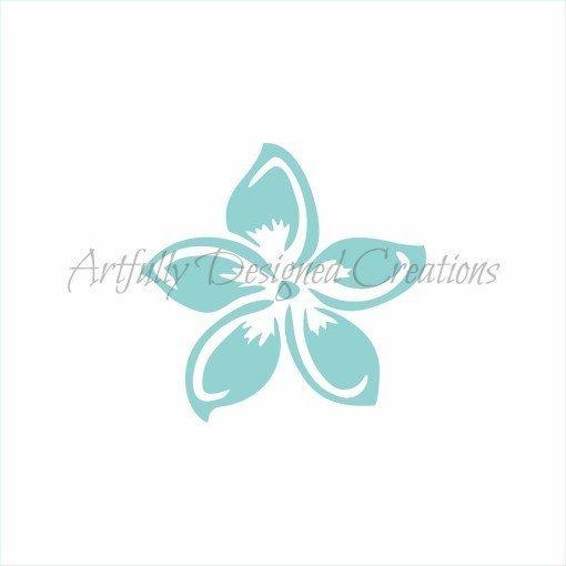 AD Hawaiian Flower Stencil