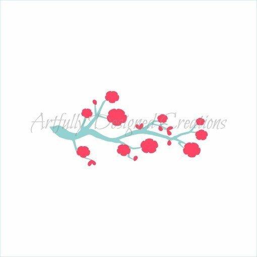 AD Cherry Blossom Stencil