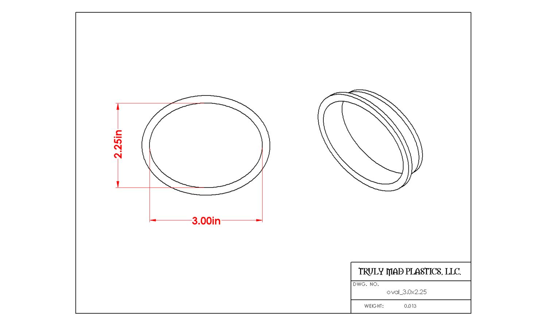 Oval 3.0 x 2.25