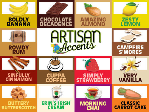Artisan Accents Flavors (prices vary)