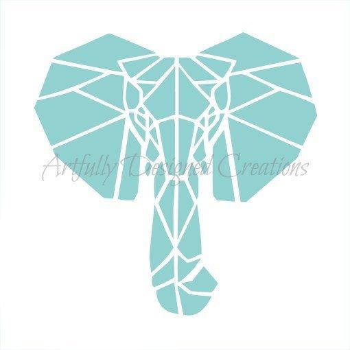 AD Blyss Elephant Stencil