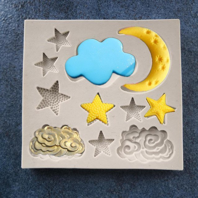 Moon/Clouds  Silicone Mold