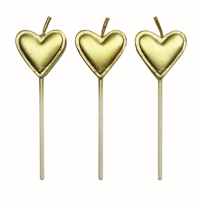 PME 8 Gold Heart Candles