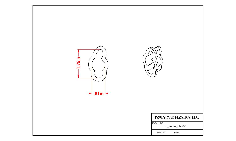 Mini Treble Clef 03