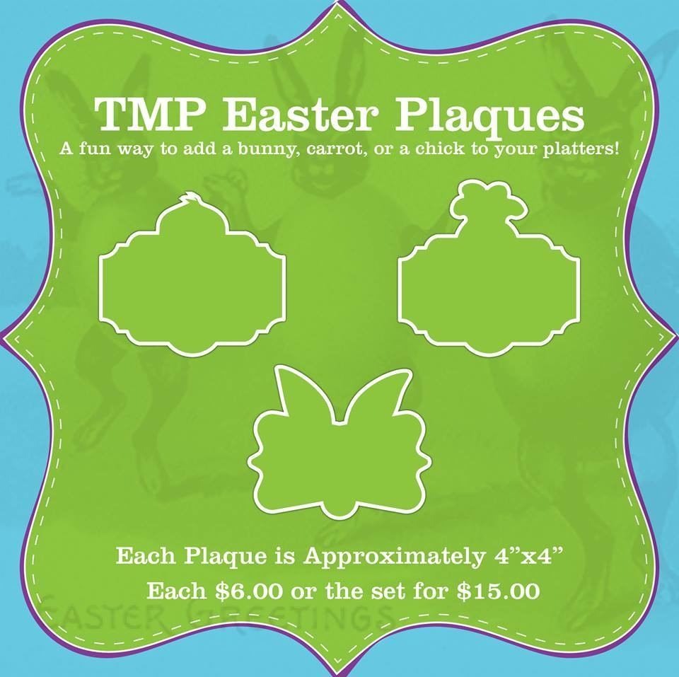 Easter Plaque Set (Chick, Carrot and Bunny)