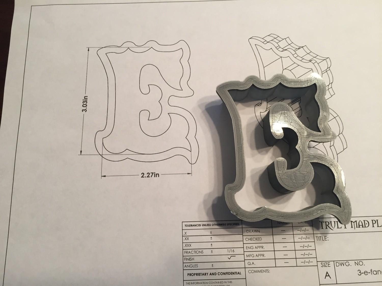 """E 3"""" Fancy Font"""