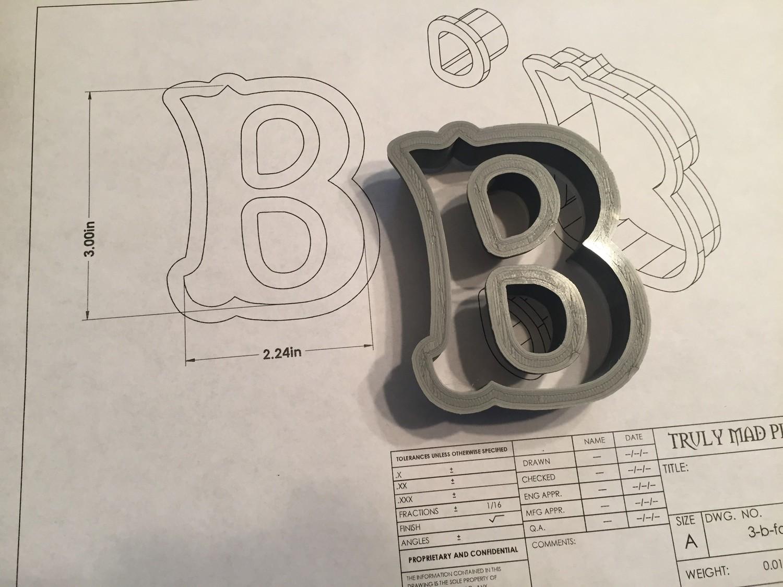 """B 3"""" Fancy Font"""