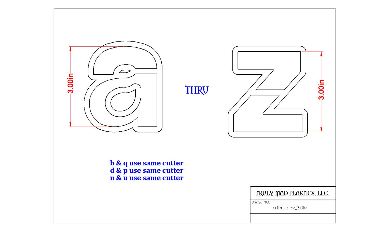 "Complete Helvetica Set Lower Case 3.0"""
