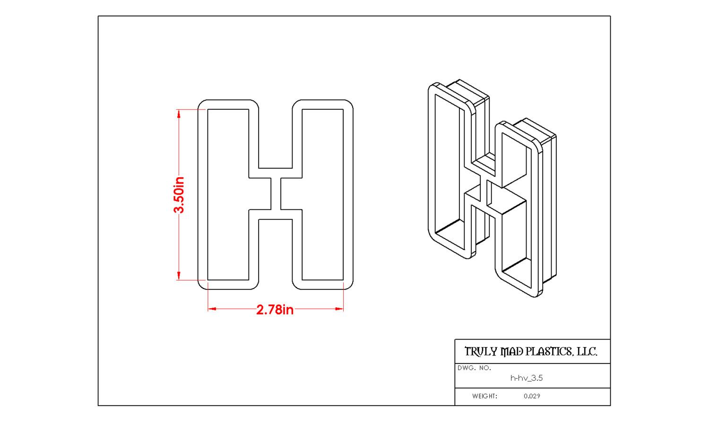 """Helvetica H 3.5"""""""