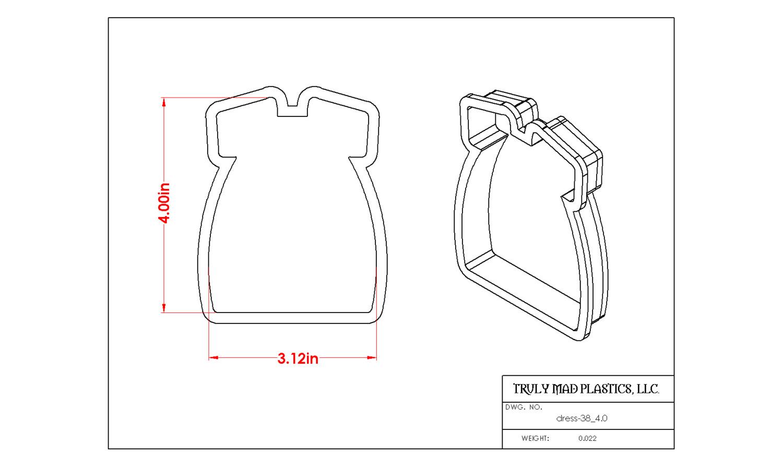 """Dress 38 (4.0"""")"""