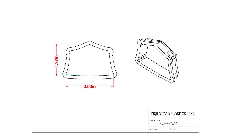 """Circus Tent 01 (3.0"""")"""