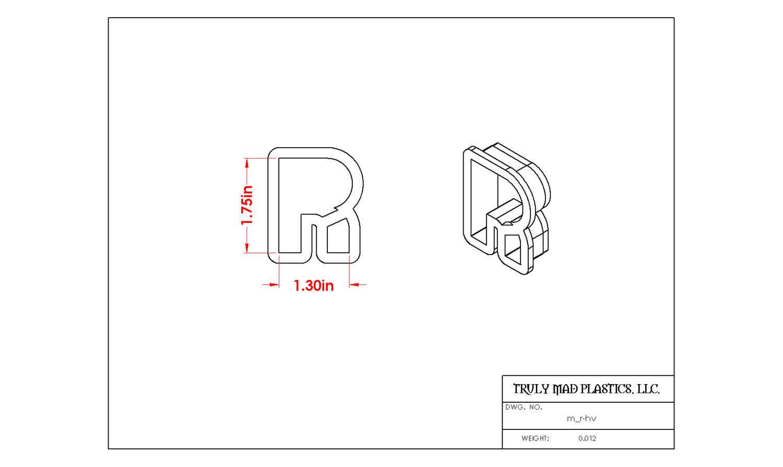 Mini R Helvetica