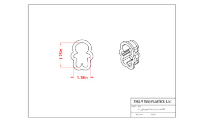 Mini Gingerbread Man 03 (1.75