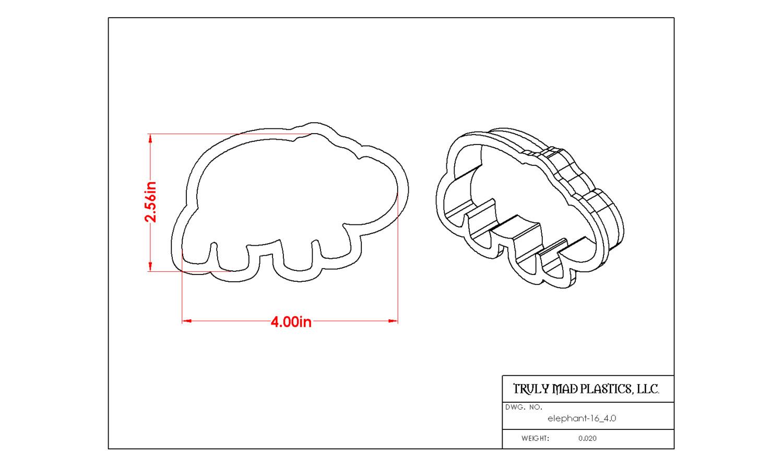 "Elephant 16 (4.0"")"