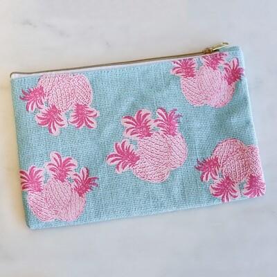 Pineapple Cosmetic Bag Blue/Pink