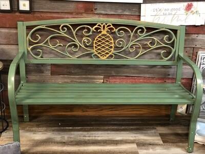 Green Indoor/Outdoor Pineapple Bench