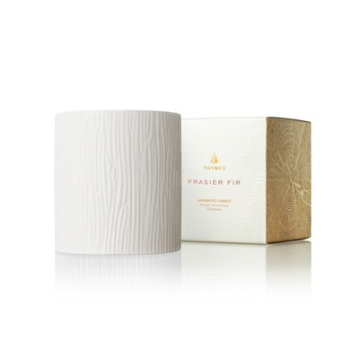 Frasier Fir Gilded Ceramic Poured Candle Medium