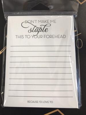 Staple Notepad