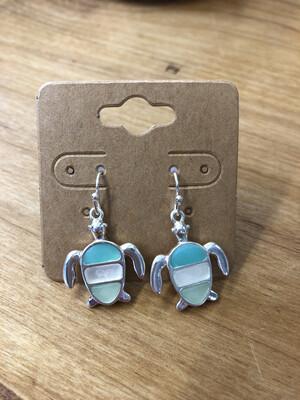 TriColor Turtle Earrings