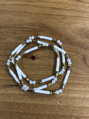 Gold & White Bead Set
