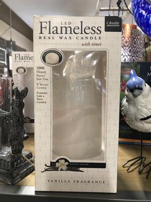 flameless white lg boxed w/timer
