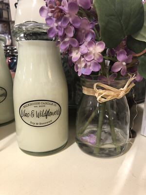Lilac & Wildflowers Milk Bottle