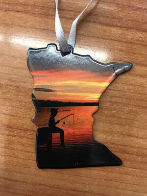 Gone Fishing MN Ornament