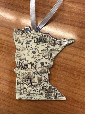 MN Vintage Map Ornament