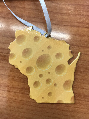 WI Cheese Ornament